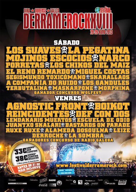 Guia de Festivales Rock España 2013 (Derrame Rock 18)