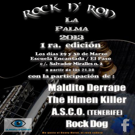 Guia de Conciertos y Festivales Rock, Metal, Punk en Canarias 2013