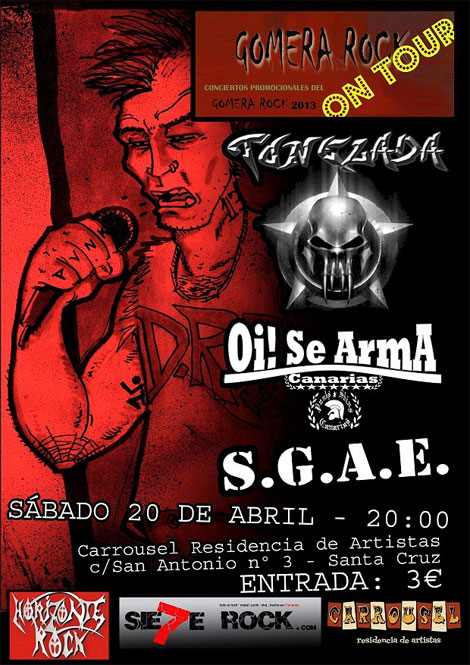 Cartel Gomera Rock On Tour 20/04/2013