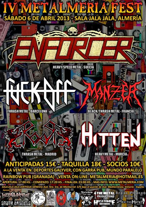 Cartel y Horarios MetalMeria 2013