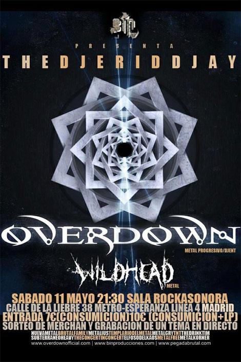 Concierto Overdown en Madrid, España