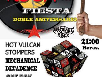 Cartel Disparate Rock en Tenerife.Horizonte Rock + Lone Star