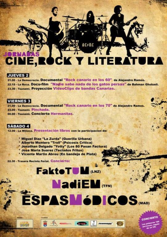 Jornadas de Literatura Rock en Canarias