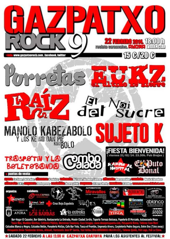 Cartel Festival Gazpatxo Rock 2013