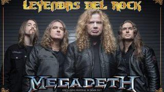Megadeth cabeza de cartel de Leyendas del Rock 2017