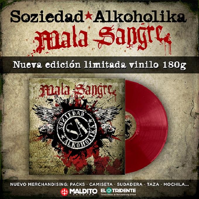 Soziedad Alkoholika edita su álbum 'Mala Sangre' en vinilo rojo 180 gramos